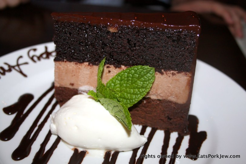 triple chocolate cake from Baker & Banker