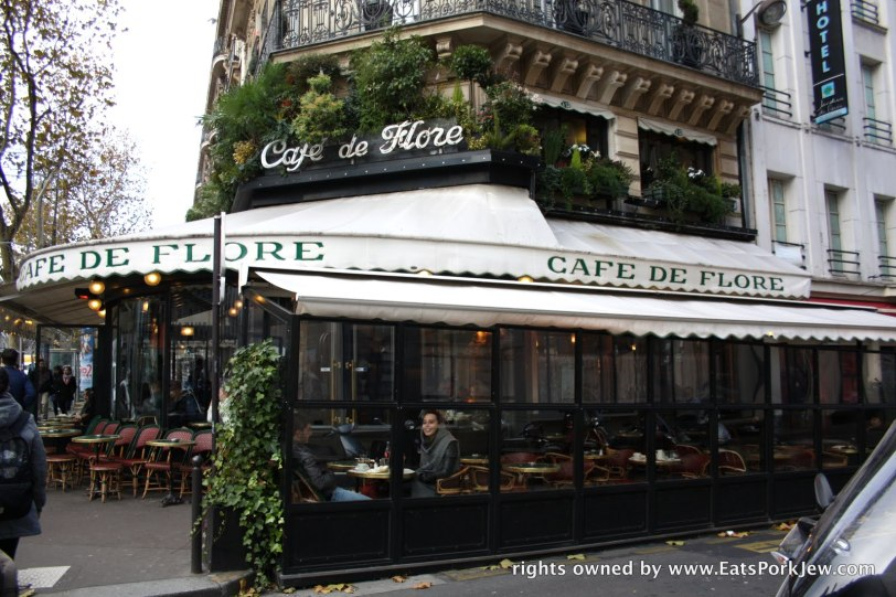 Cafe Flore, Paris France brunch