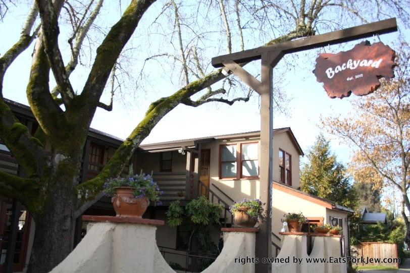 Backyard restaurant in Forestville CA