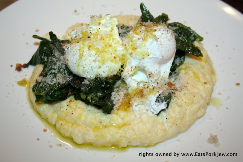 creamy polenta with poached eggs