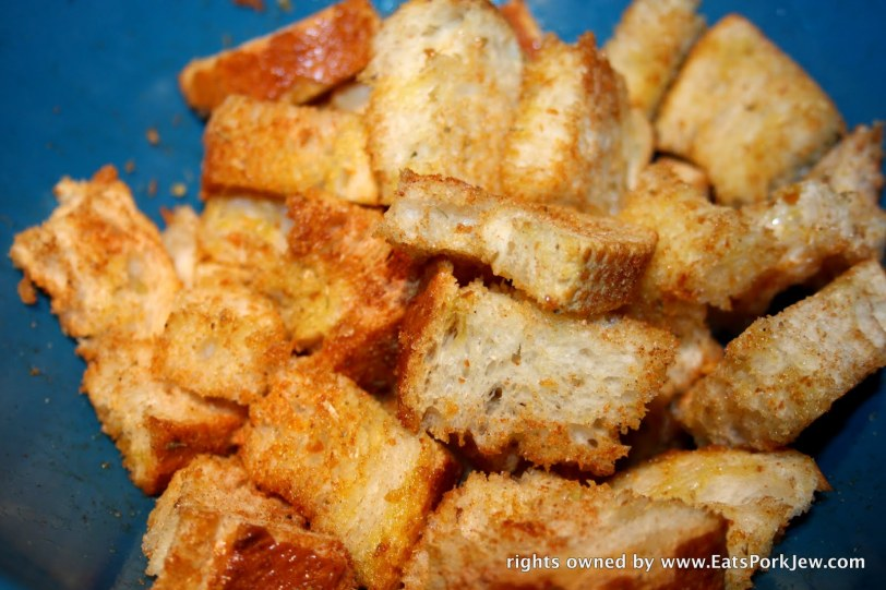 spice rubbed croutons