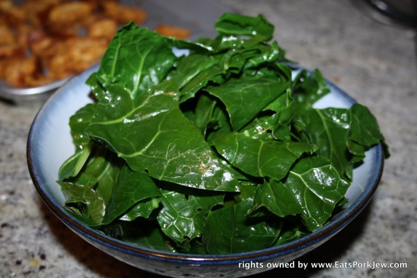 blanched collard greens