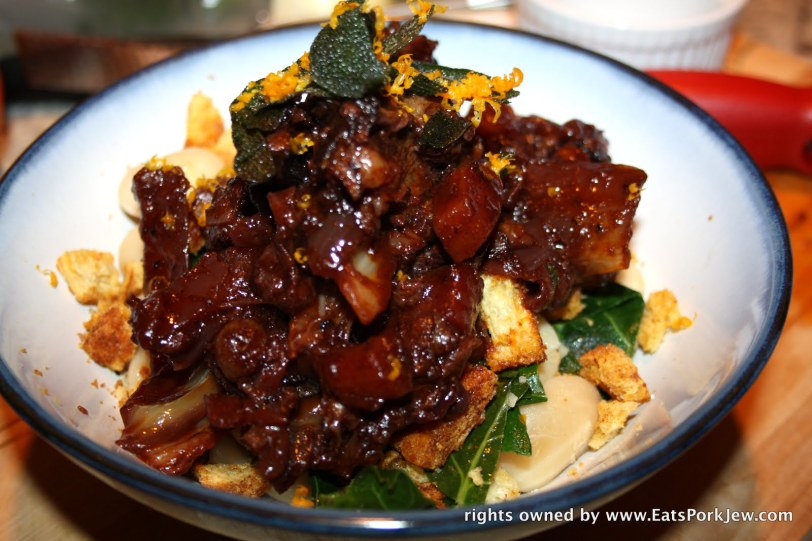 Braised beef short ribs with Quatre Epices