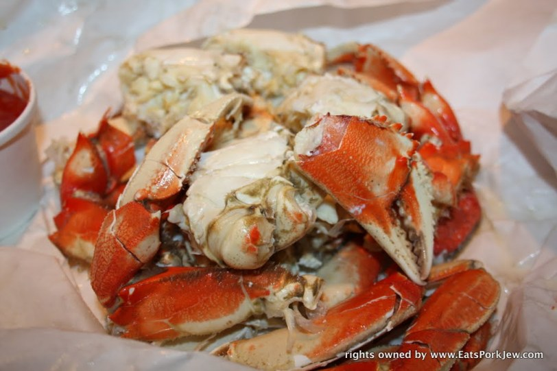 cracked Dungeness Crabs from Swan Oyster Depot, San Francisco