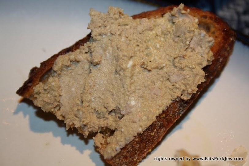 Lafitte Foie gras from Paris on Josey Baker Bread crostinis