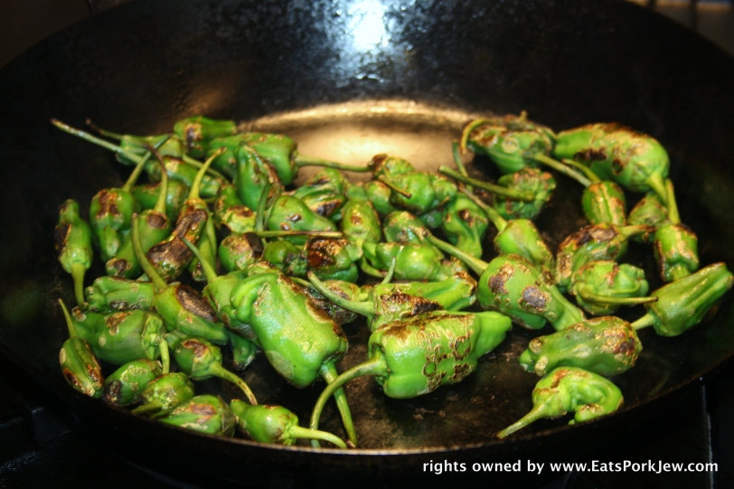 roasted padron peppers