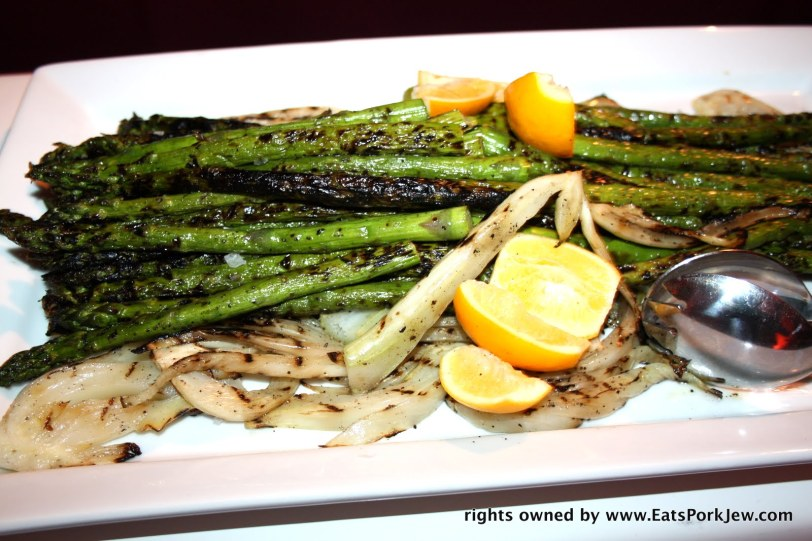 Roasted asparagus (it's in season!) and fennel with lemon.