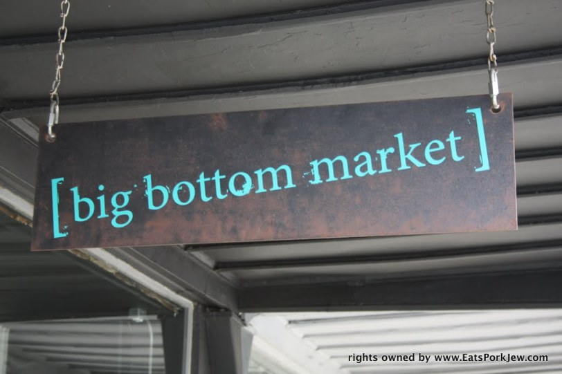 Big bottom market in downtown Guerneville, CA