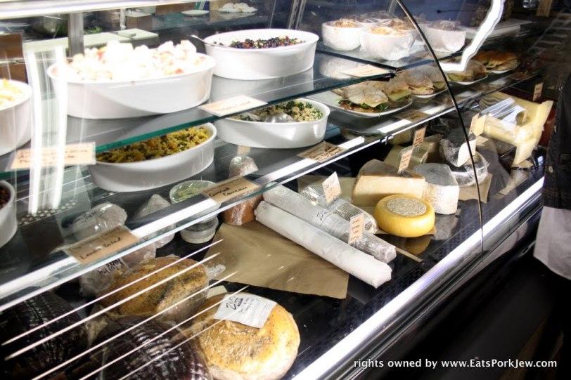 deli case inside the big bottom market in Guerneville, CA