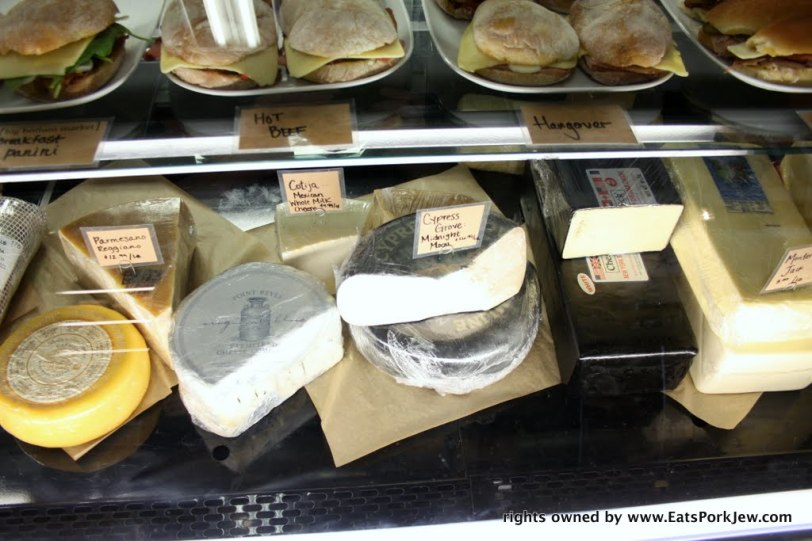 Big Bottom Market cheese case in Guerneville, CA