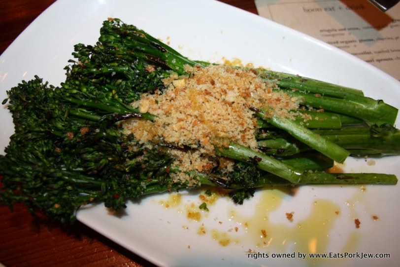 Roasted broccolini, toasted bread crumbs, olive oil and garlic from Boon Eat Drink in Guerneville, CA
