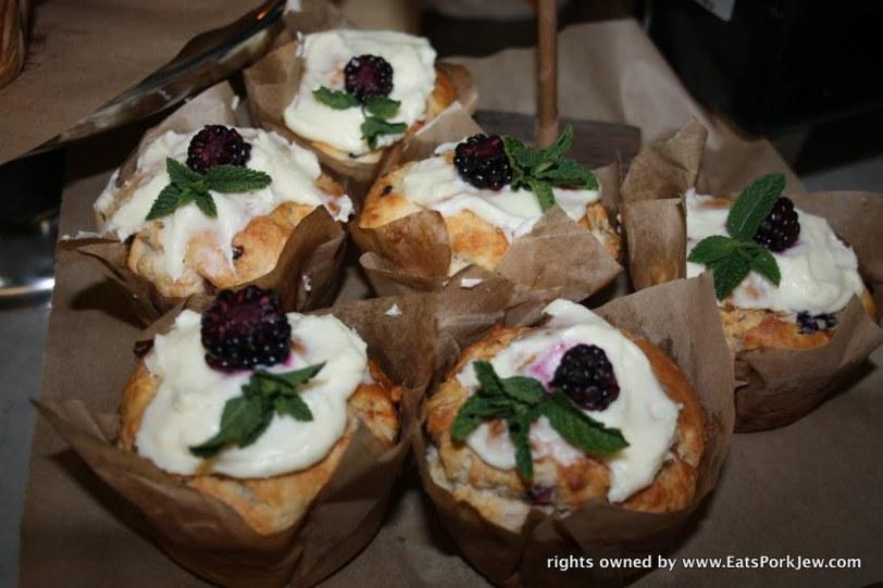 Blackberry buttermilk biscuits from big bottom market in Guerneville, CA