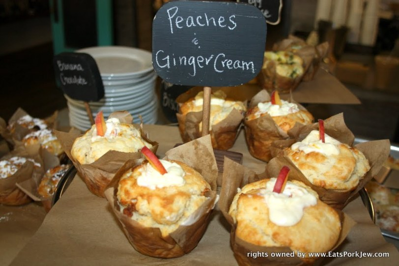 Peaches and ginger cream biscuits from big bottom market in Guerneville, CA
