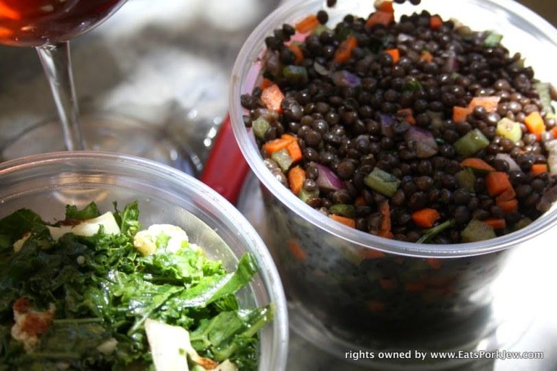 Lentil salad from big bottom market in Guerneville, CA