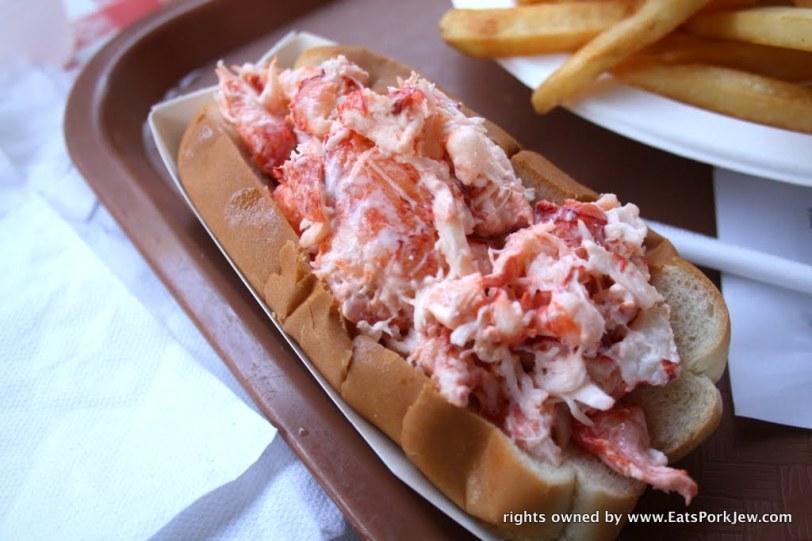 Lobster roll from PJ's Family Restaurant in Wellfleet, MA