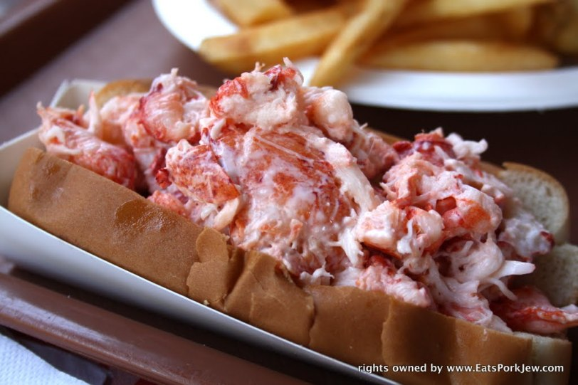 The lobster roll at PJ's Family Restaurant in Wellfleet, MA
