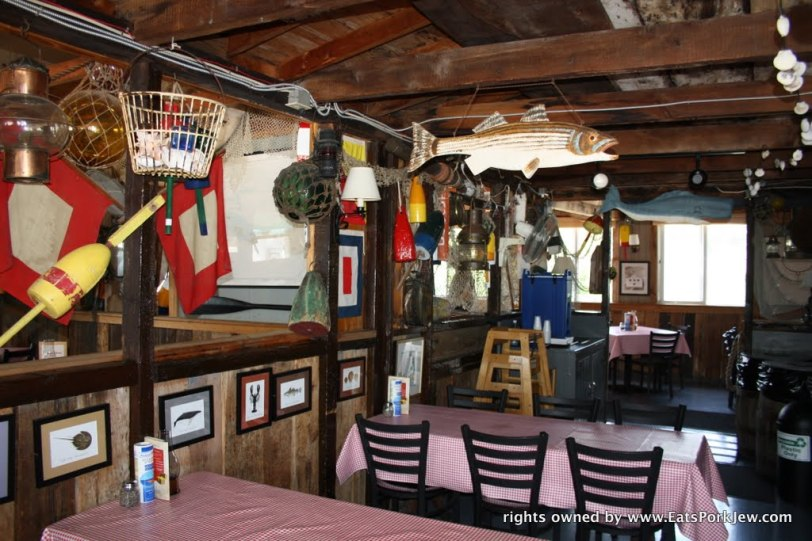 interior of Moby Dick's Seafood Restaurant in Wellfleet, MA on Cape Cod
