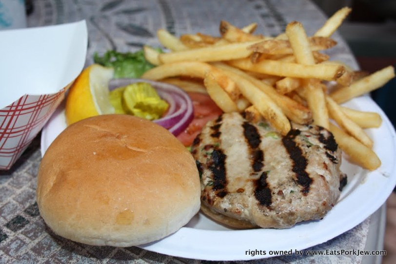 ground ahi tuna burger from the Beachcomber in Wellfleet, MA