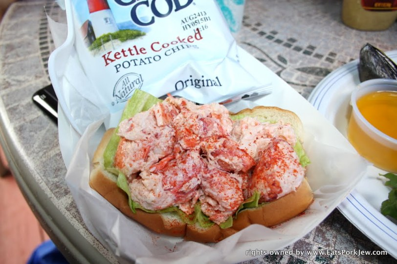 The lobster roll from the Beachcomber in Wellfleet, MA on Cape Cod