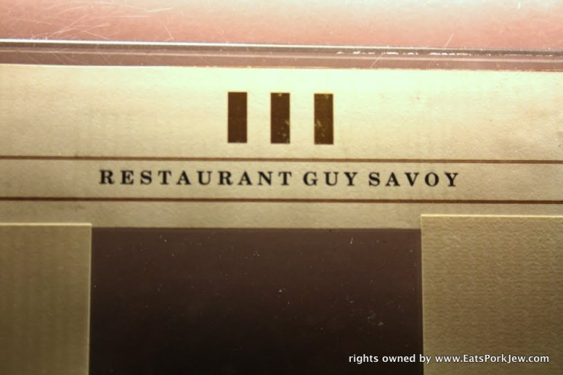 restaurant Guy Savoy in Las Vegas at Caesars Palace