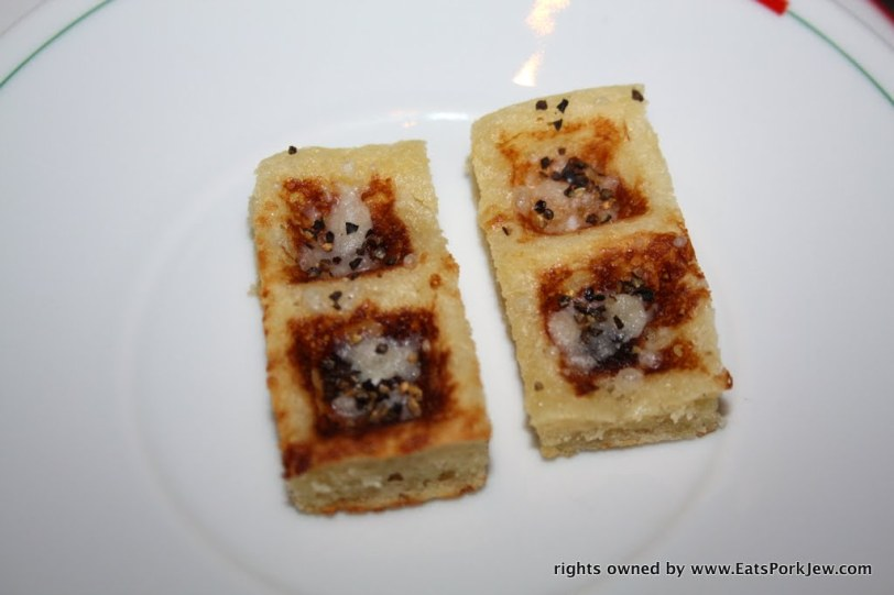 Next was a parmesan, salt and black pepper waffle Guy Savoy in Las Vegas at Caesars Palace