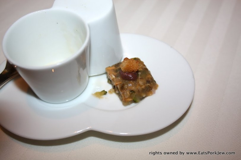 a terrine of briny mussels Guy Savoy in Las Vegas at Caesars Palace