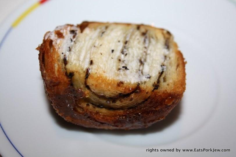 buttered mushroom brioche roll from Guy Savoy