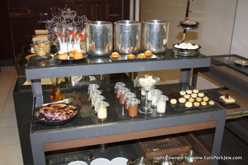 The complimentary dessert cart at Guy Savoy