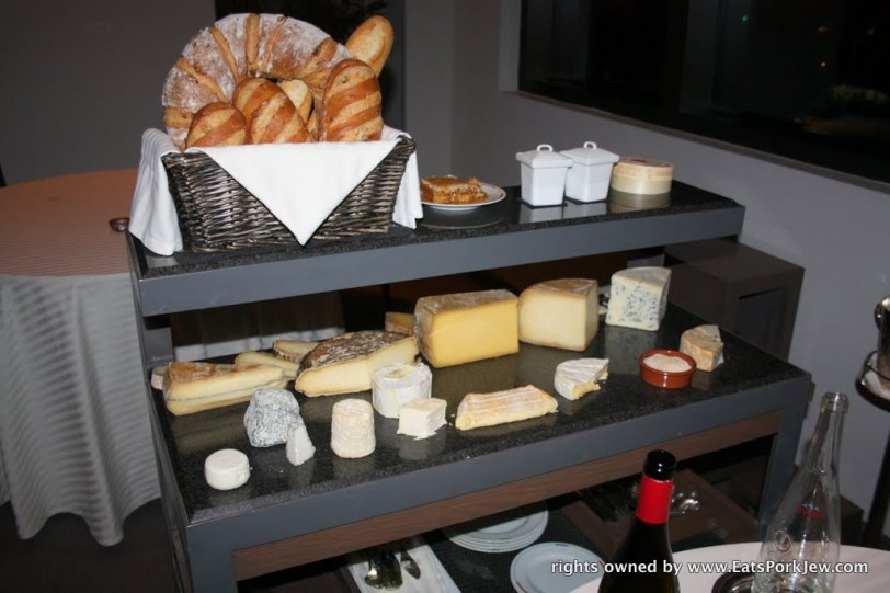 The incredible cheese cart at Guy Savoy in Las Vegas