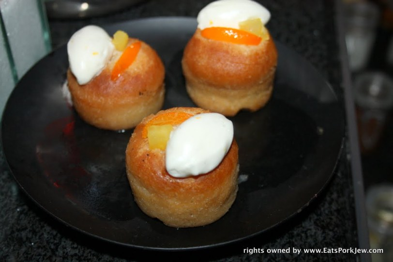rum babas at Guy Savoy