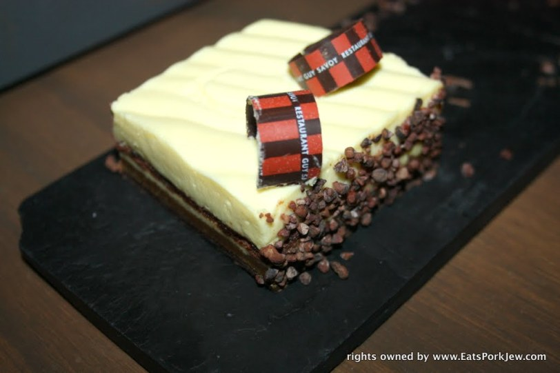 tiramisu cake from Guy Savoy