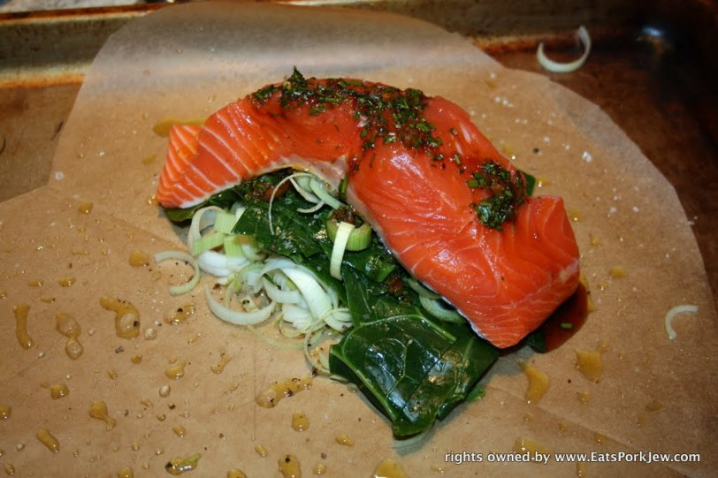 food blog- salmon en papillote with dill