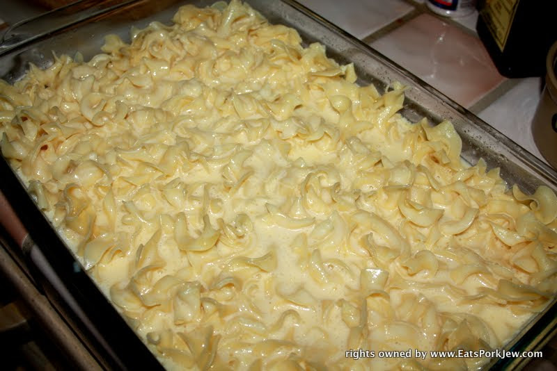Eatsporkjew-kugel recipe with eggs and sugar