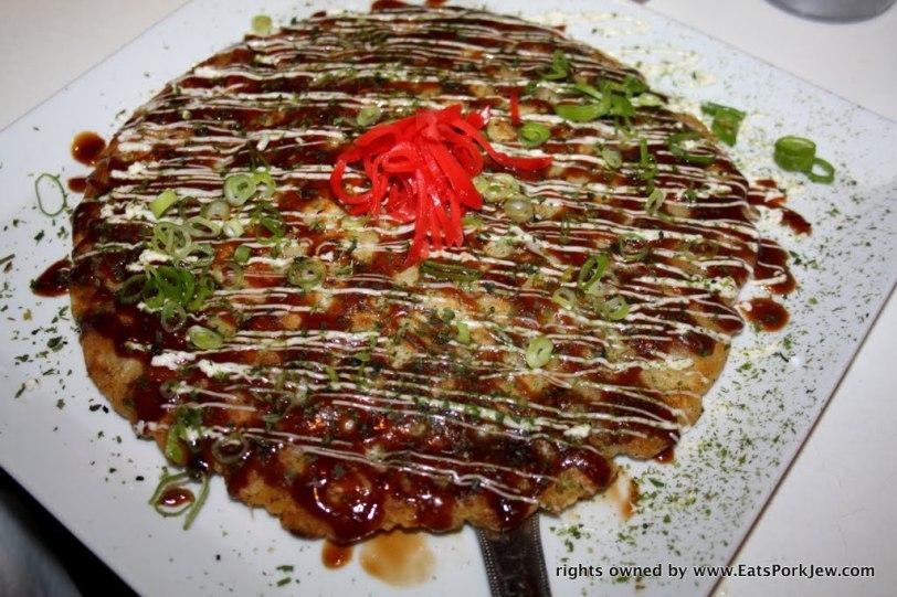 Eatsporkjew- Okonomiyaki, a savory Japanese pancake from Halu