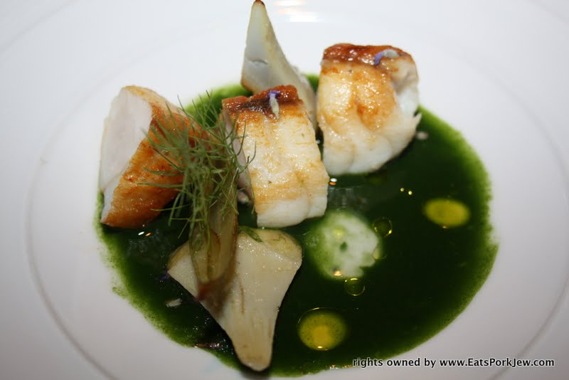 food photos- monkfish at Volt