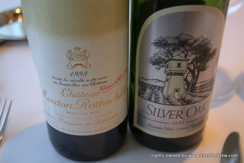 food photos- wine from Rothschild and Silver Oak
