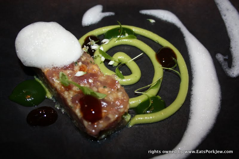 food photos- tuna tartar at Volt