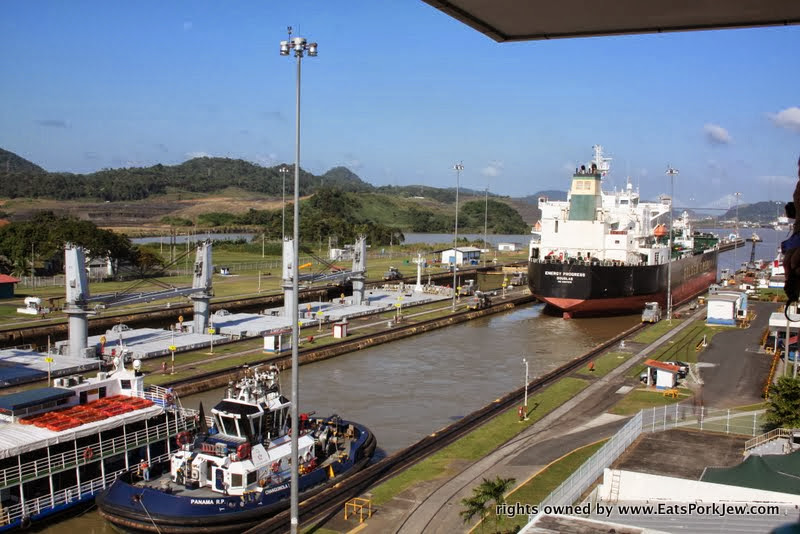 visiting-panama-canal-boat-almost-out-of-miraflores-locks