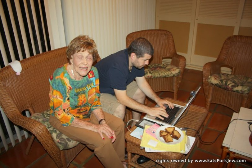 Aunt-Ellie-and-Jonathan-and-coffee-cake